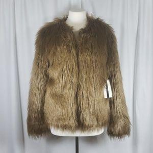 NWT Forever 21 Perminum Label Faux Fur Jacket Sz M